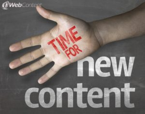New web content ideas keep you fresh and relevant.