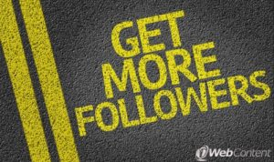 Attract more followers to improve your social media success.