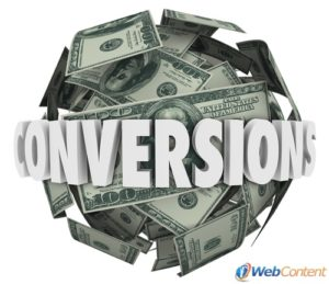 Address conversions with your online marketing strategy.