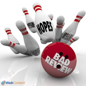 Reverse the effects of bad reviews by using professional content writers.