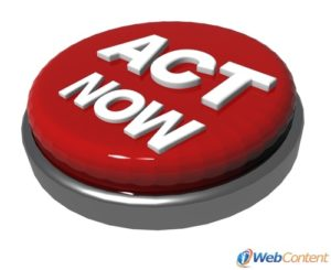 Encourage readers to act now with the help of content writing services.