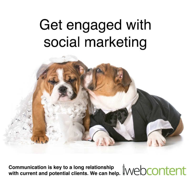 Social Marketing wedding meme