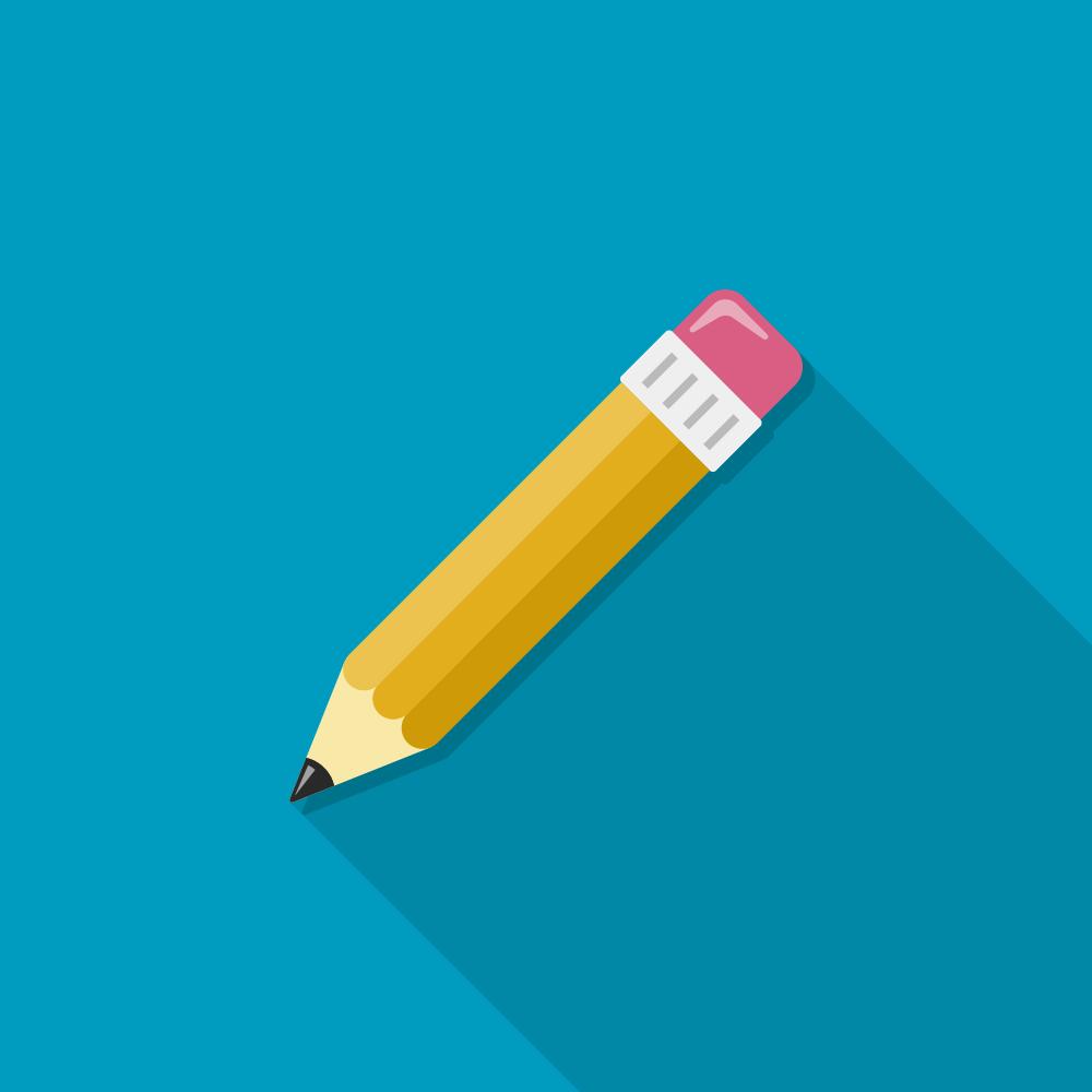 content writer pencil