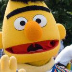 sesame street character Bert at a children's birthday party
