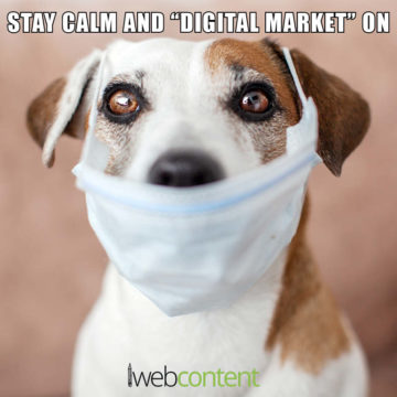 Stay Calm and Digital Market On meme